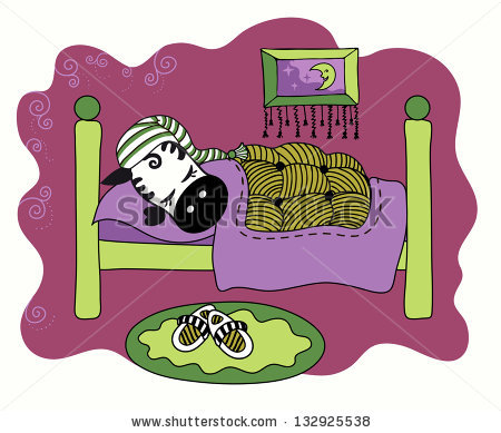 Cute small bed cartoon clipart. Children picture coloring stock