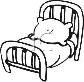 Clipartfest black . Cute small bed cartoon clipart