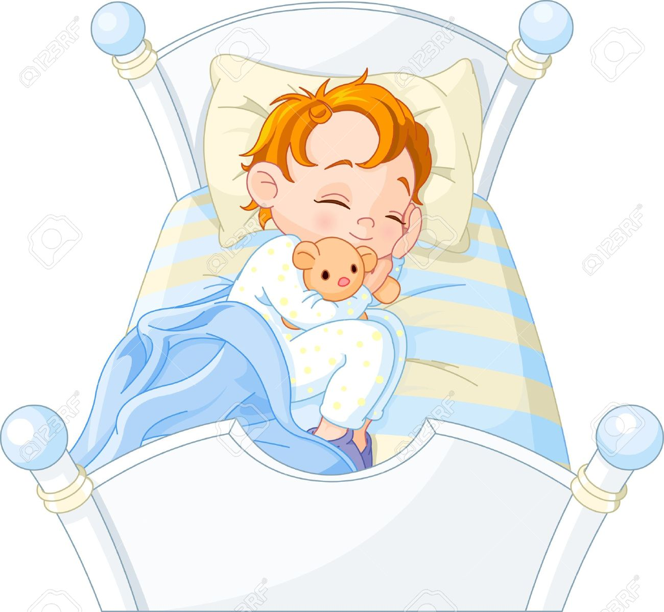 Cute small bed cartoon clipart. Clipartfest little boy sleeping