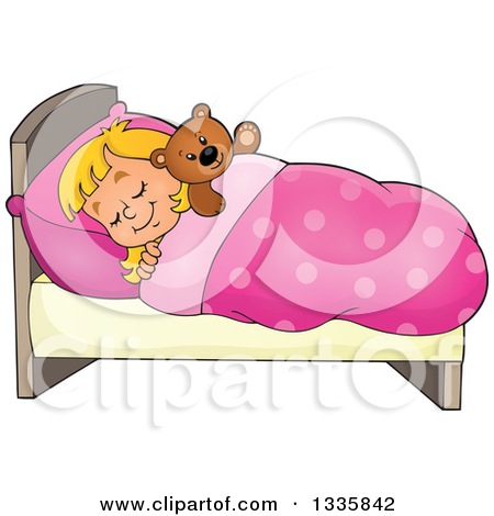 Cute small bed cartoon clipart. Royalty free rf teddy