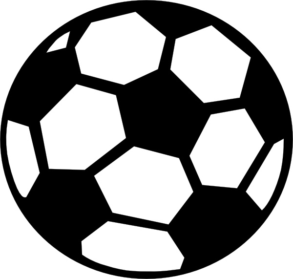 Clip art free vector. Cute soccer ball clipart