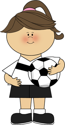 Cute soccer ball clipart. Girl with clip art