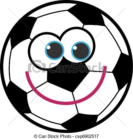 Stock illustrations of cartoon. Cute soccer ball clipart
