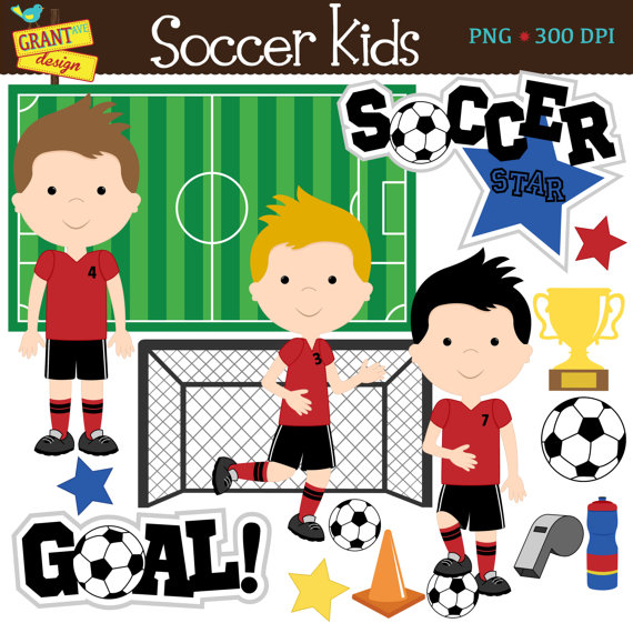 Cute soccer clipart banner transparent library Soccer Clip Art - Soccer Boys Clipart - Cute Digital Clipart ... banner transparent library