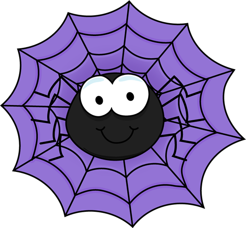 Cute spider web clipart picture freeuse stock Spider in a purple spider web clip art spider in a purple ... picture freeuse stock