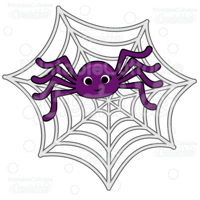 Cute spider web clipart png transparent stock Cute Spider in Spiderweb SVG Cut File & Clipart | SVG ... png transparent stock