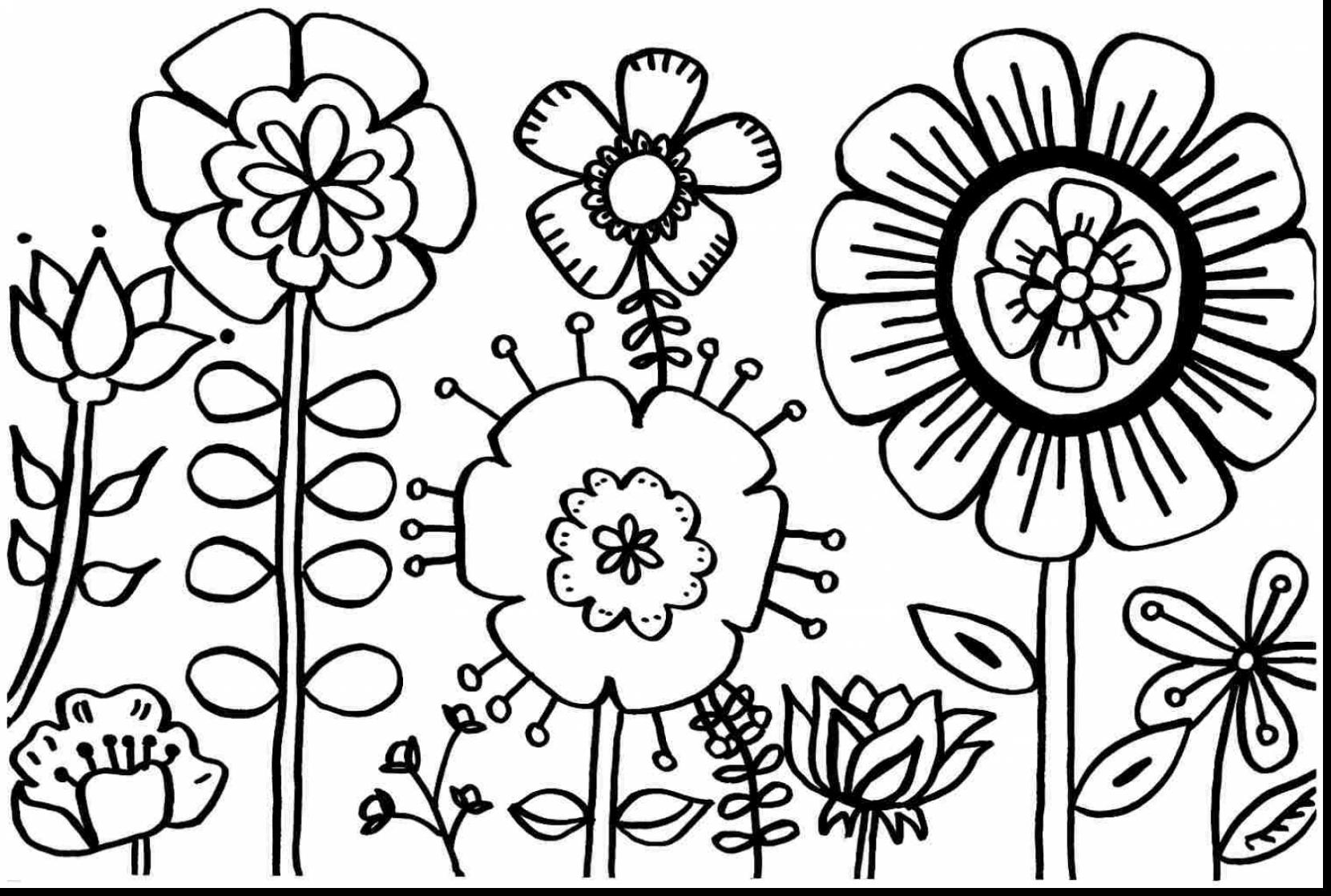 Spring Flowers Clipart Black And White | Free download best ... black and white library