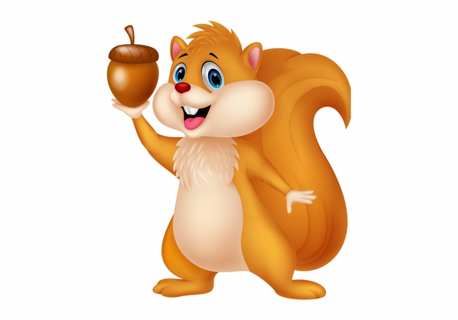 Squirrel with acorn clipart picture free Cute Squirrel With Acorn Png Cartoon Clipart - Free Squirrel ... picture free