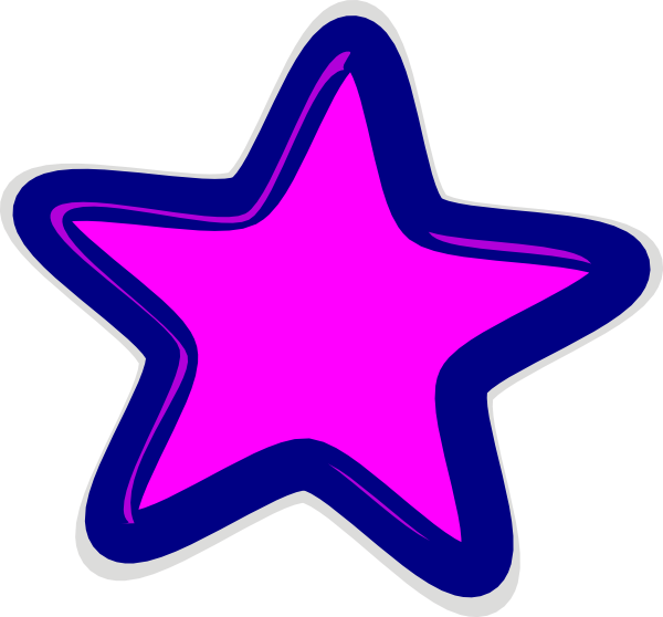 Cute star clipart clipart black and white download Pink Star Clip Art at Clker.com - vector clip art online, royalty ... clipart black and white download