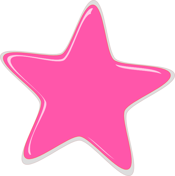 Silly star clipart vector black and white Pink Star Editedr Clip Art at Clker.com - vector clip art online ... vector black and white