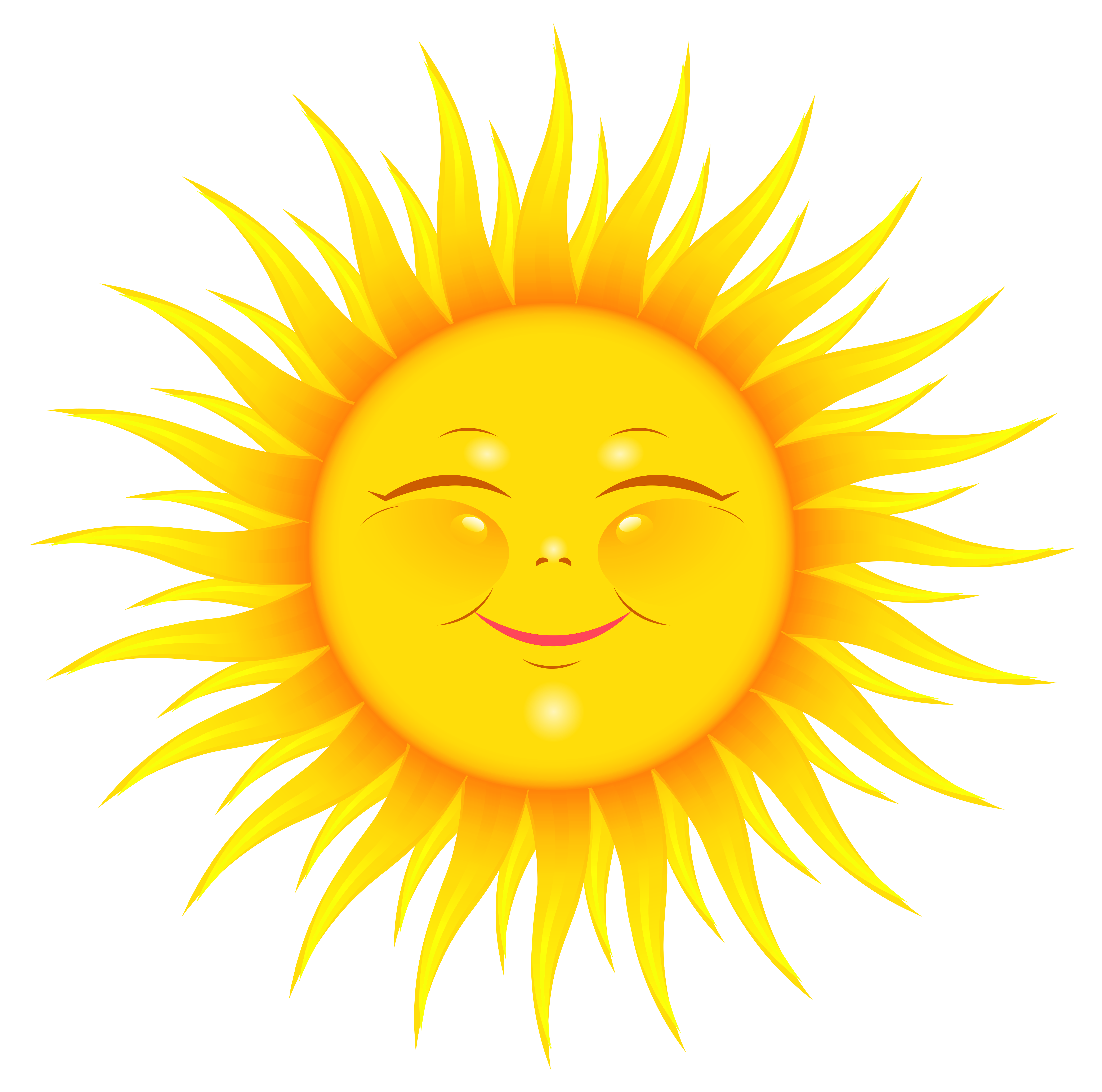 Cute sun smiling clipart picture royalty free Transparent Cute Sun Picture | Gallery Yopriceville - High-Quality ... picture royalty free