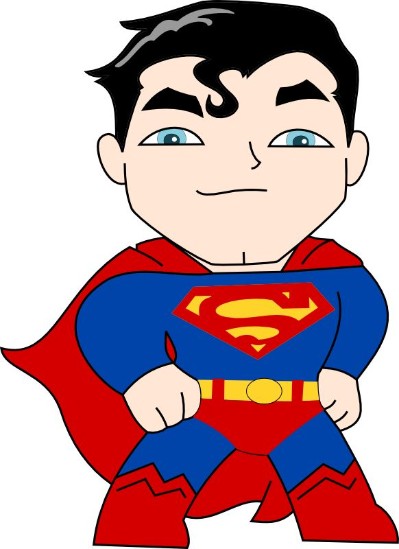 Cute superman characters clipart. Clipartfest