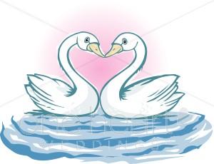 Cute swan clipart