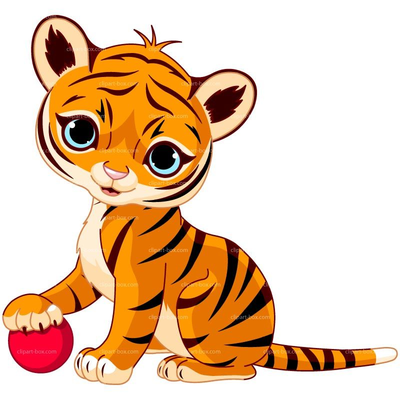 Tiger on a rock clipart banner royalty free library CLIPART BABY TIGER PLAYING | Cheryl\'s Clipart | Tiger cub ... banner royalty free library