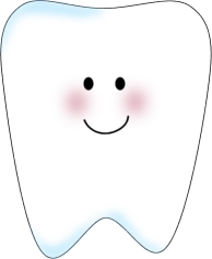 Cute tooth clipart png black and white library Tooth Clip Art | Tooth Clip Art Image - white tooth with a ... png black and white library