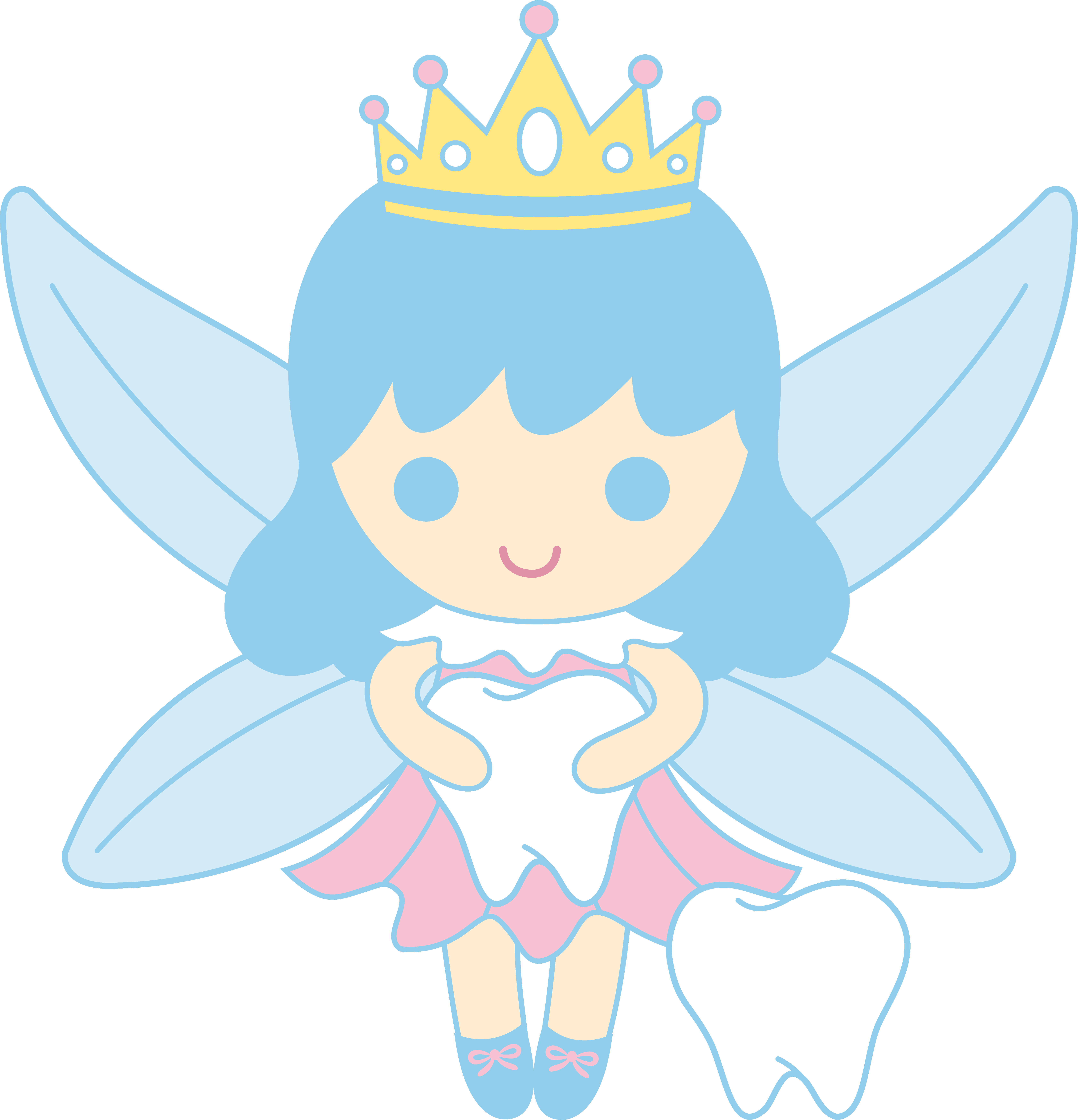Cute tooth fairy clipart image royalty free stock Cute Tooth Fairy Collecting Teeth - Free Clip Art image royalty free stock