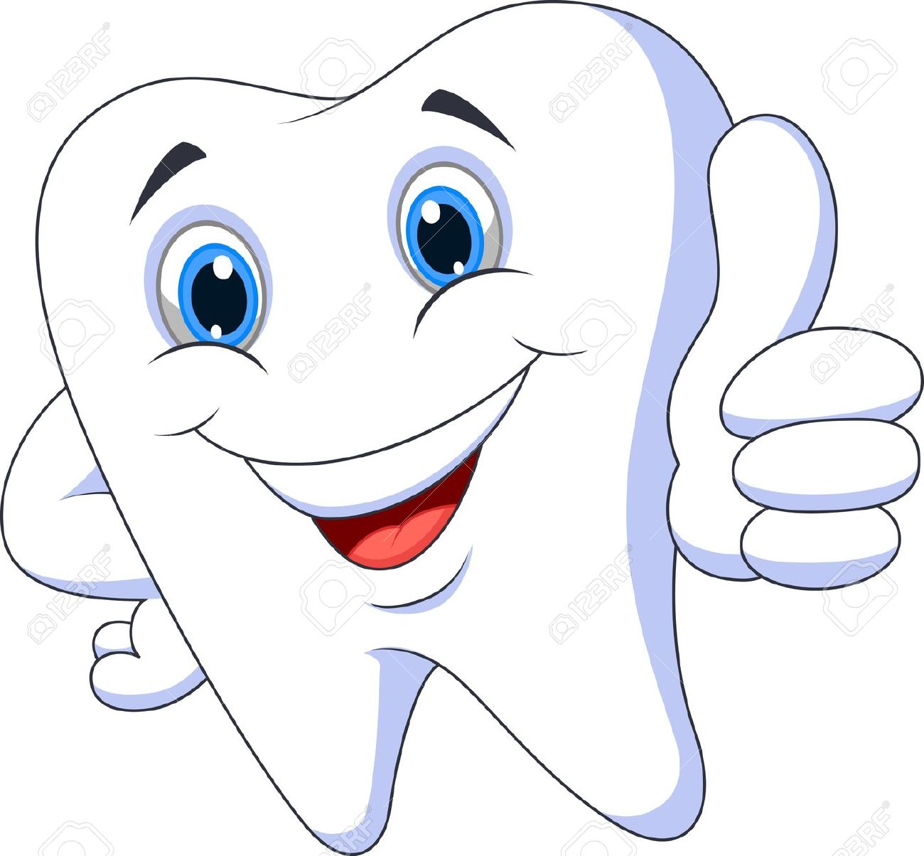 Cute tooth with hearts clipart jpg library library Cute Cartoon Tooth With Thumb Up Royalty Free Cliparts, Vectors ... jpg library library