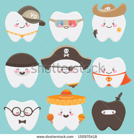 Cute tooth with hearts clipart clipart free download Tooth Character Stock Images, Royalty-Free Images & Vectors ... clipart free download