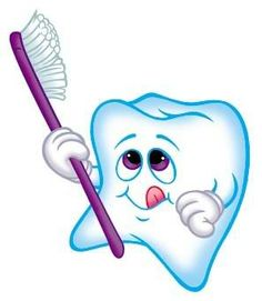 Cute tooth with hearts clipart