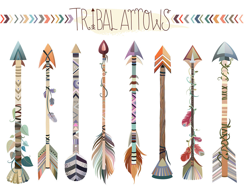 Cute tribal arrow clipart download Tribal Arrows Clipart Set of Vector PNG & JPG Files Hand download