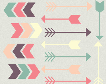 Cute tribal arrow clipart. Etsy arrows digital chevron