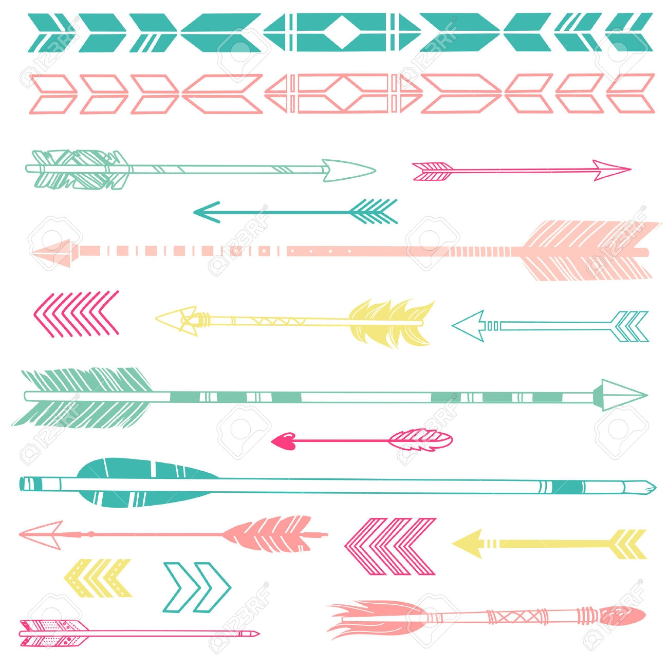 Cute trible arrow clipart picture Indian heart cute clipart - ClipartFest picture