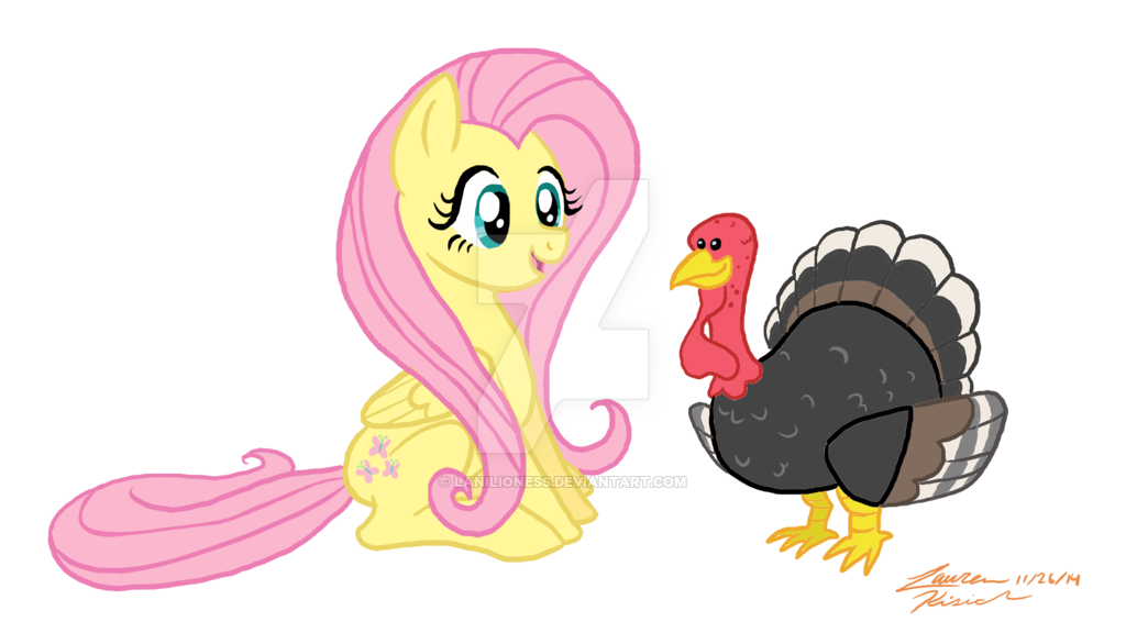 Cute turkey and animal friends clipart banner royalty free download Fluttershy's Thanksgiving by TheAbbeyRoadie on DeviantArt banner royalty free download