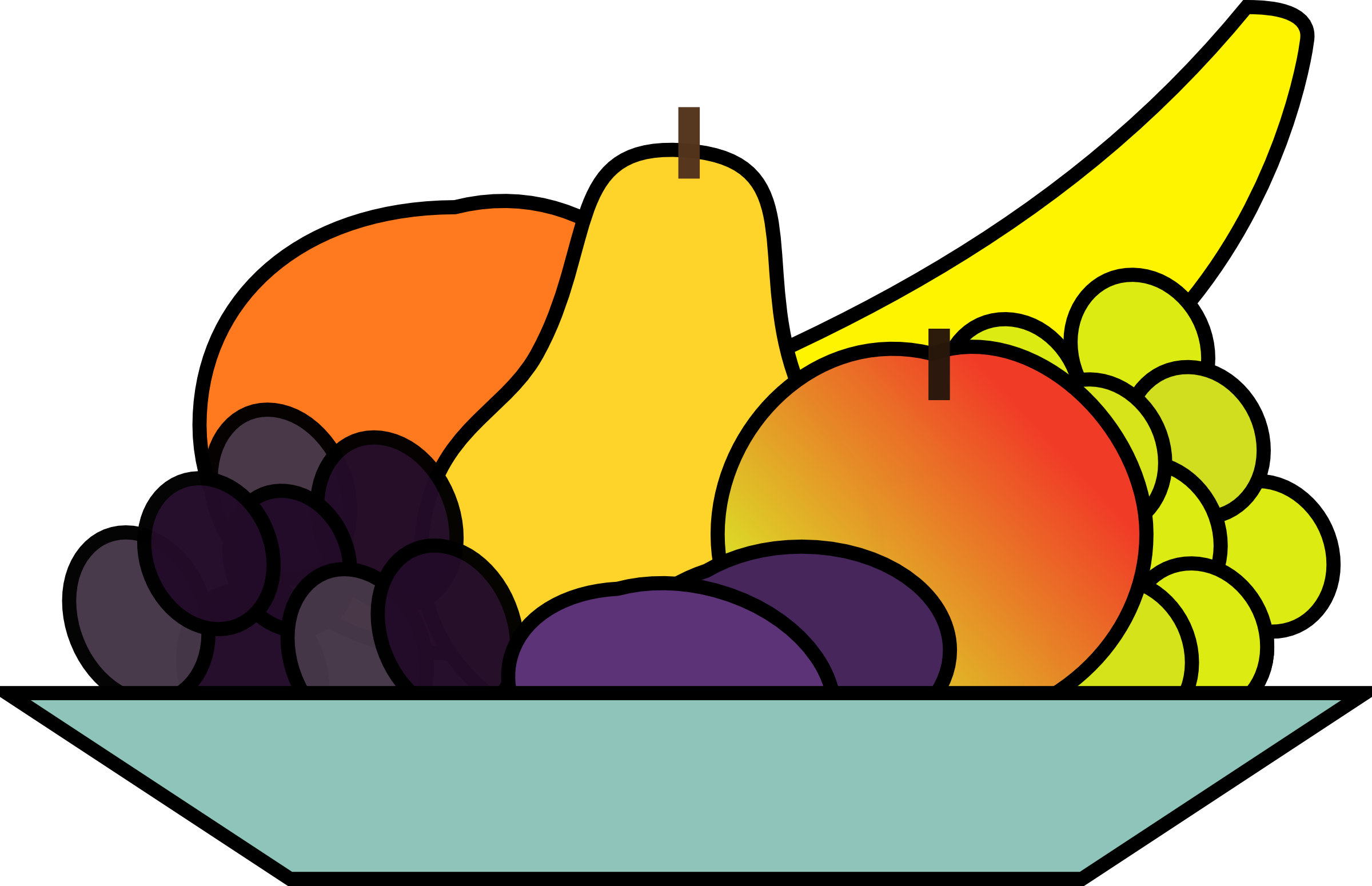 Fruit house clipart banner royalty free library Fruit Plate Clipart | Clipart Panda - Free Clipart Images banner royalty free library