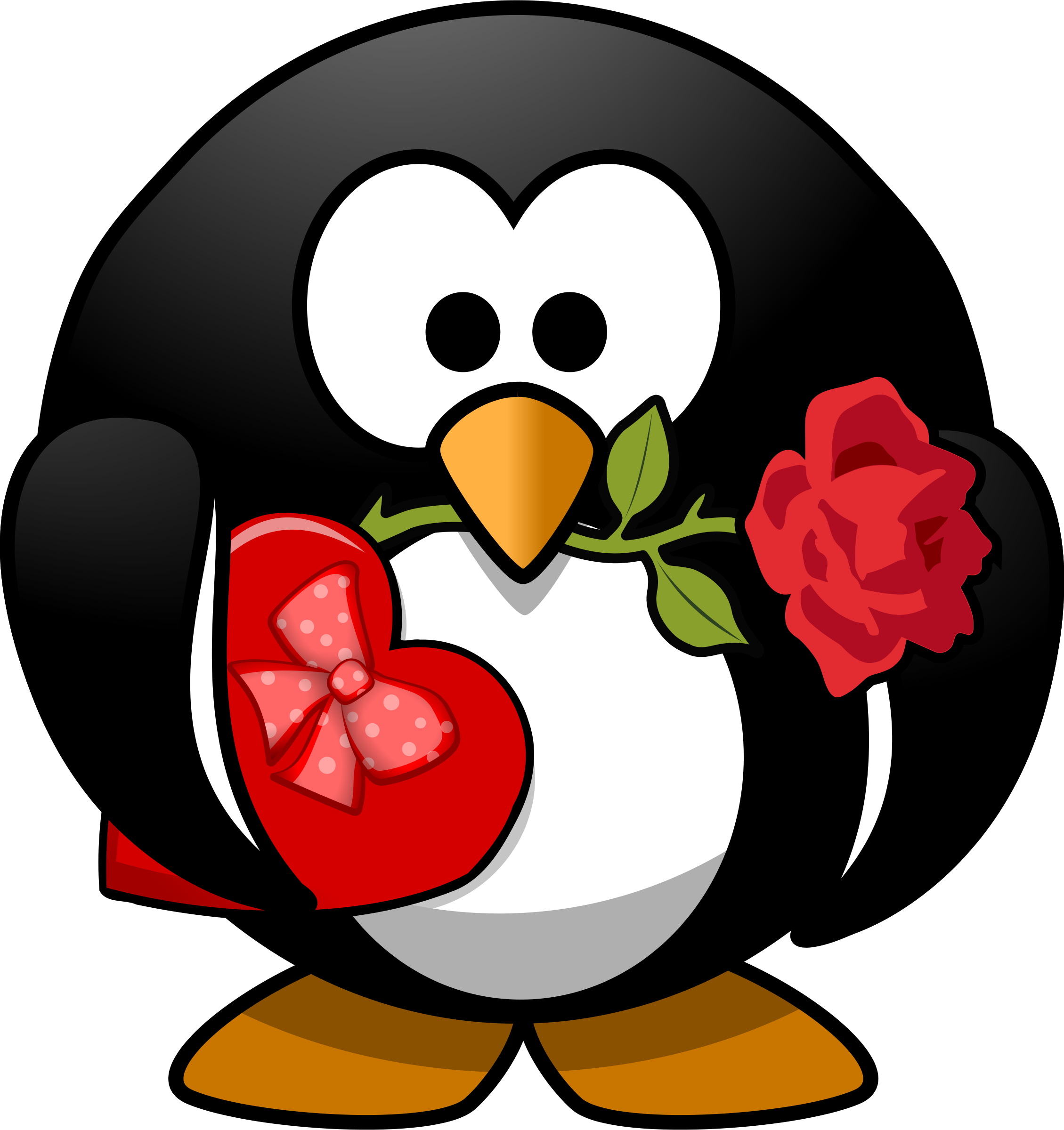 Cute valentine animal clipart black and white stock Most funny clipart pictures and photos 4 | Clipart and Printable ... black and white stock