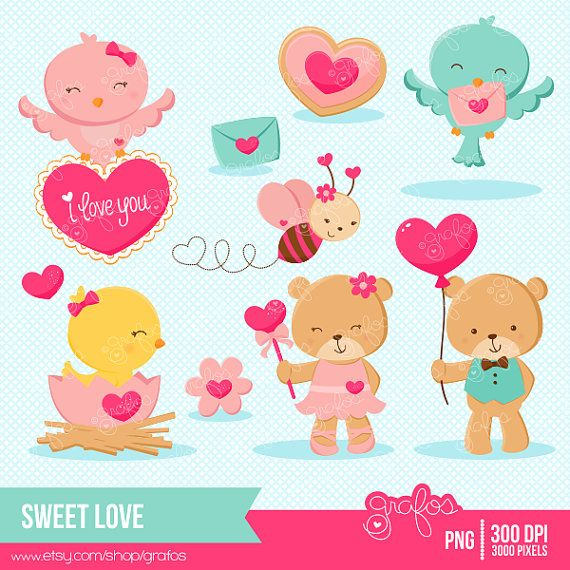 Cute valentine animal clipart graphic Collection Cute Valentine Animals Pictures - Best easter gift ever graphic