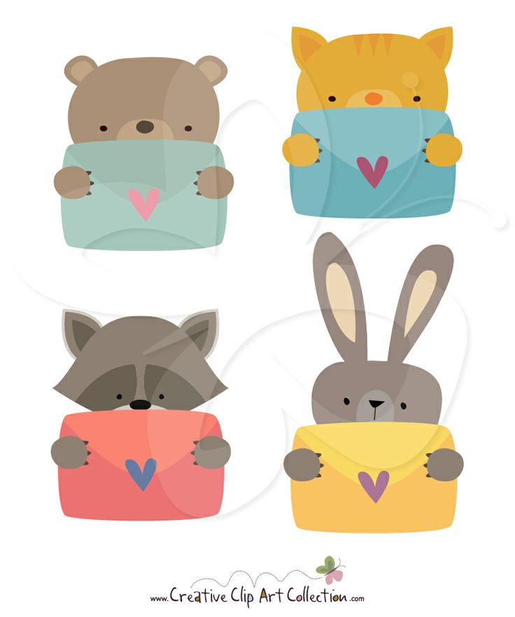 Cute valentine animal clipart.  images about valentines