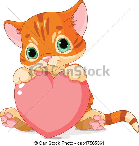 Cute valentine animal clipart clipart black and white Heart clipart for valentines day cute animals cats - ClipartFest clipart black and white