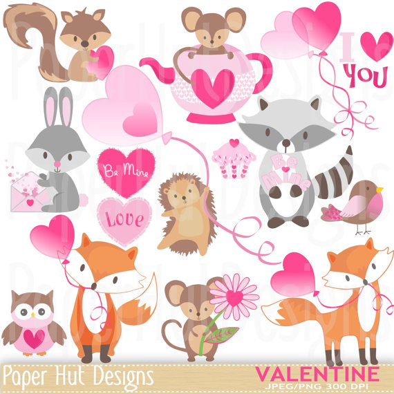Cute valentine animal clipart picture black and white library Valentine Clipart-Cute Valentine Animal Clip Art. picture black and white library