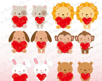 Cute valentine animal clipart picture free Valentine animal clipart - ClipartFox picture free