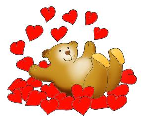 Cute valentine clip art graphic black and white stock Valentine Bear in Valentine Graphics graphic black and white stock