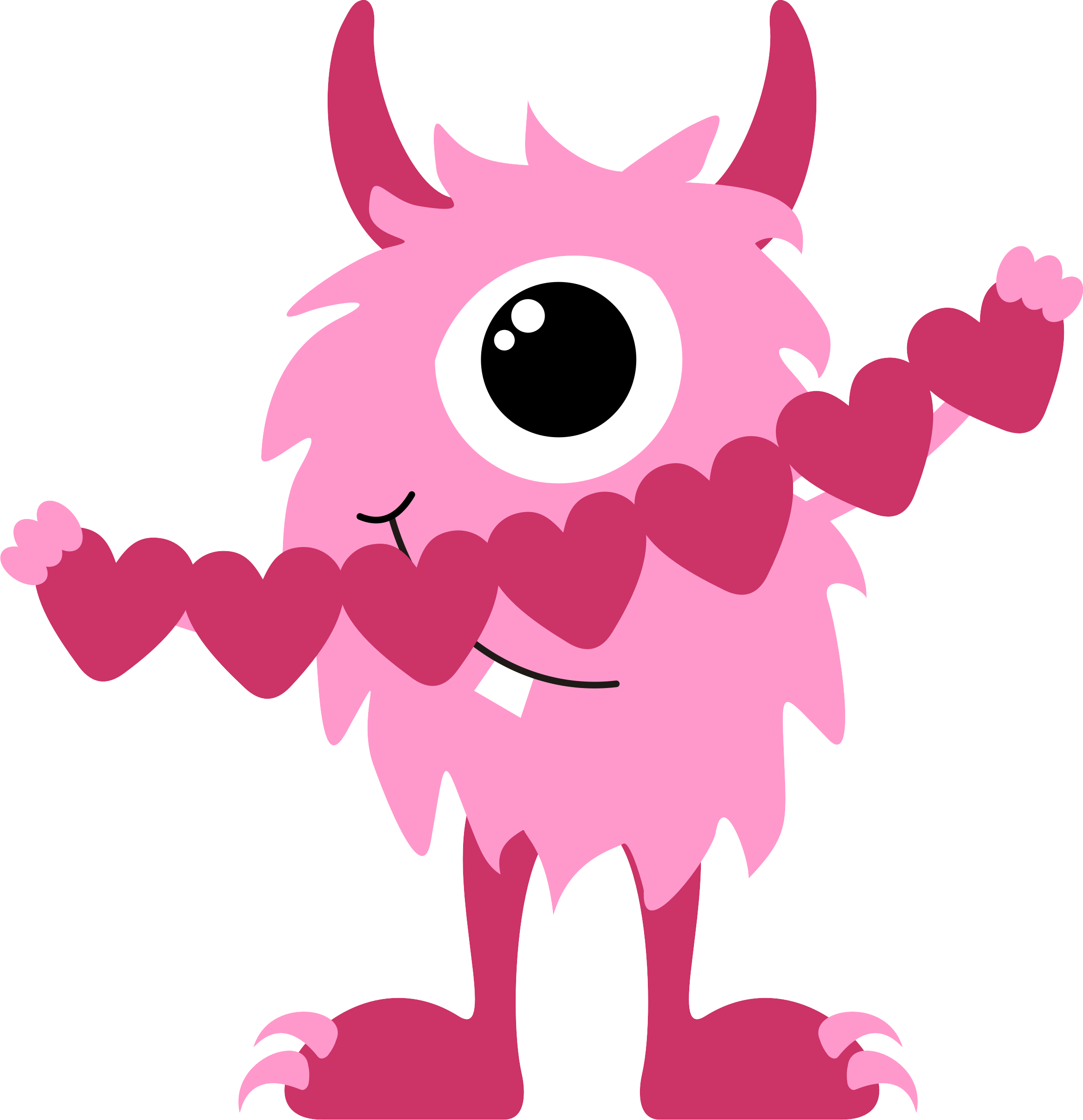 Photos of monster clip. Cute valentine clipart png