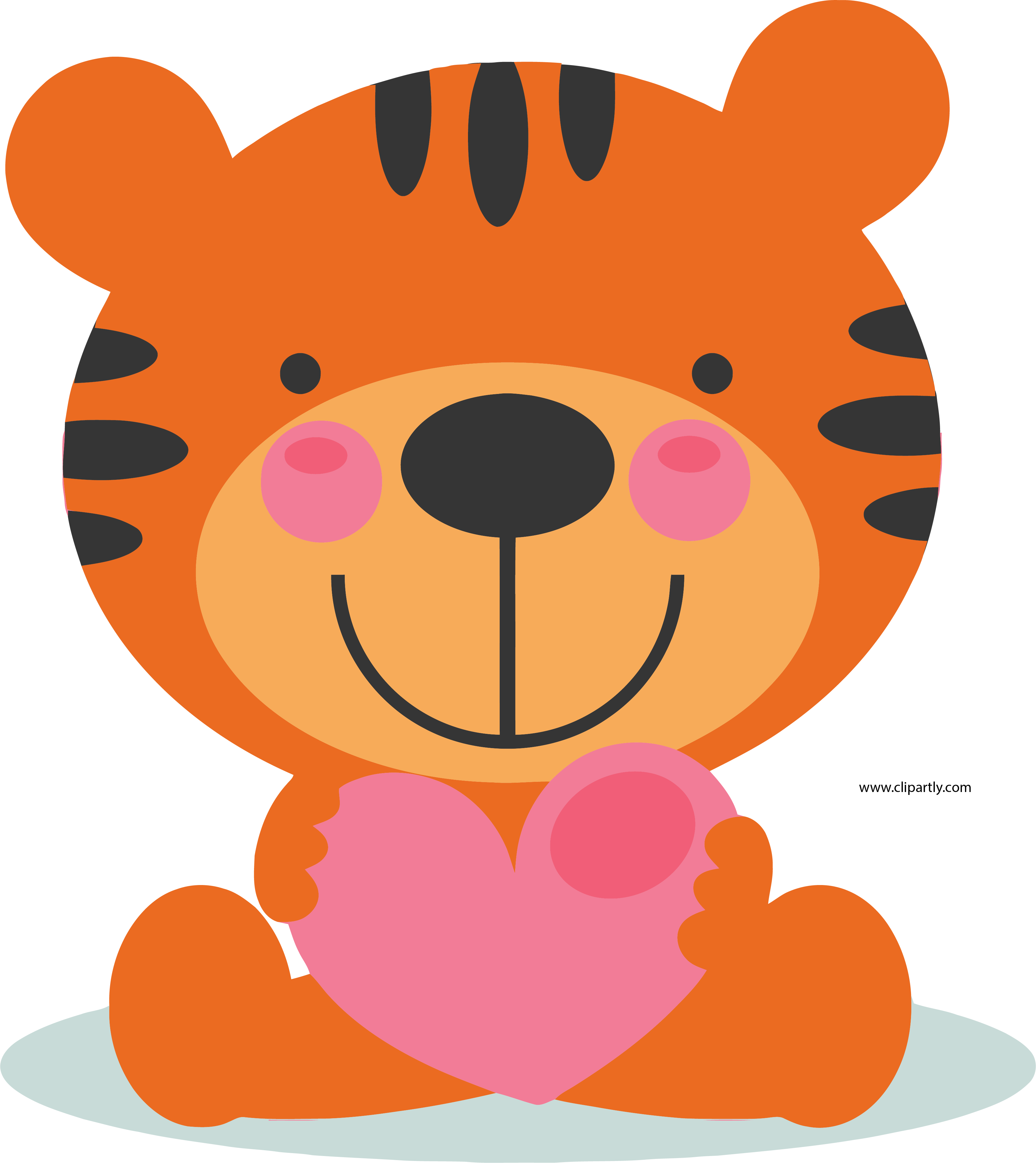 Cute valentine clipart vector freeuse library Large Cute Valentine Tigger Clipart Png Image Download - Clipartly ... vector freeuse library