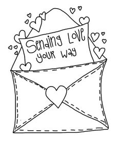 S day heart . Cute valentine clipart black and white