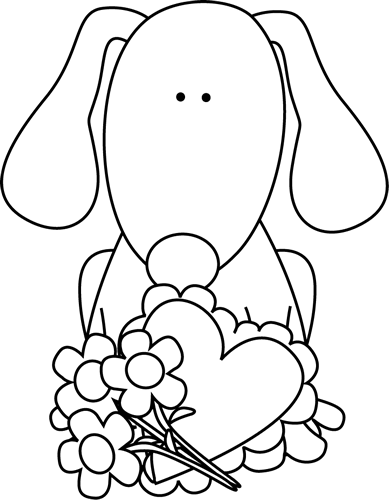 Cute valentine clipart black and white picture transparent Valentine's Day Clip Art - Valentine's Day Images picture transparent