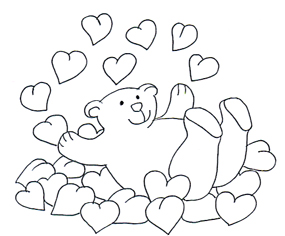 Cute valentine clipart black and white image black and white download Valentine Bear in Valentine Graphics image black and white download