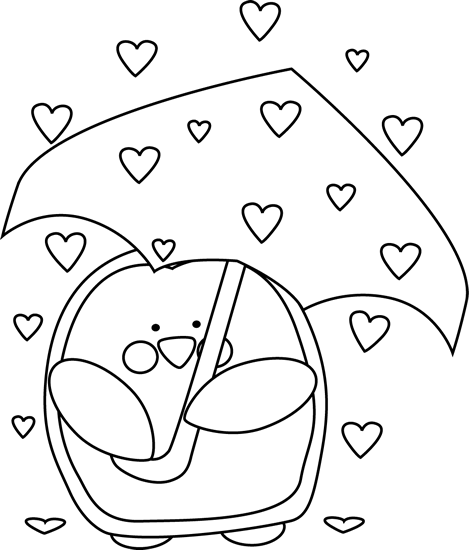 Cute valentine clipart black and white vector freeuse library Valentine's Day Clip Art - Valentine's Day Images vector freeuse library
