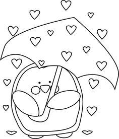 Cute valentine clipart black and white. Clipartfest raining