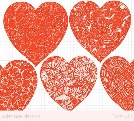 Cute valentine heart clipart graphic free library Red valentine heart clipart, Hand drawn heart clip art, Valentine ... graphic free library