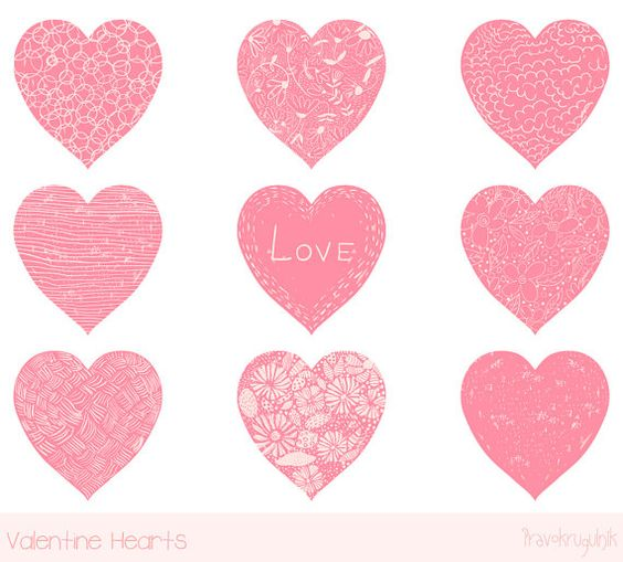 Cute valentine heart clipart picture free download Valentine heart clip art, Pink heart clipart, Hand drawn heart ... picture free download