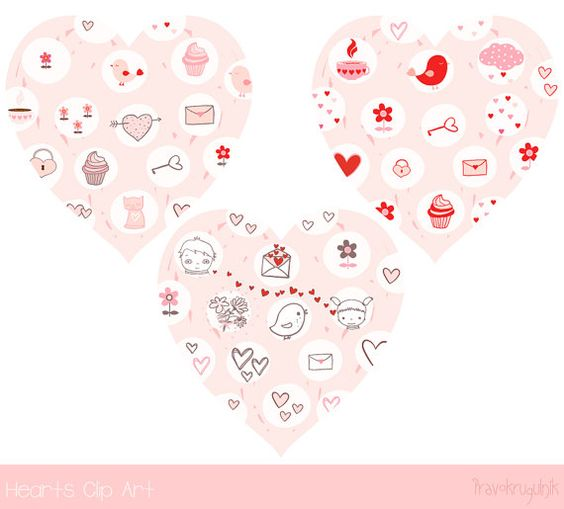 Cute valentine heart clipart png royalty free download heart clip art, Cute valentine clipart, Kawaii clip art, Pink love ... png royalty free download