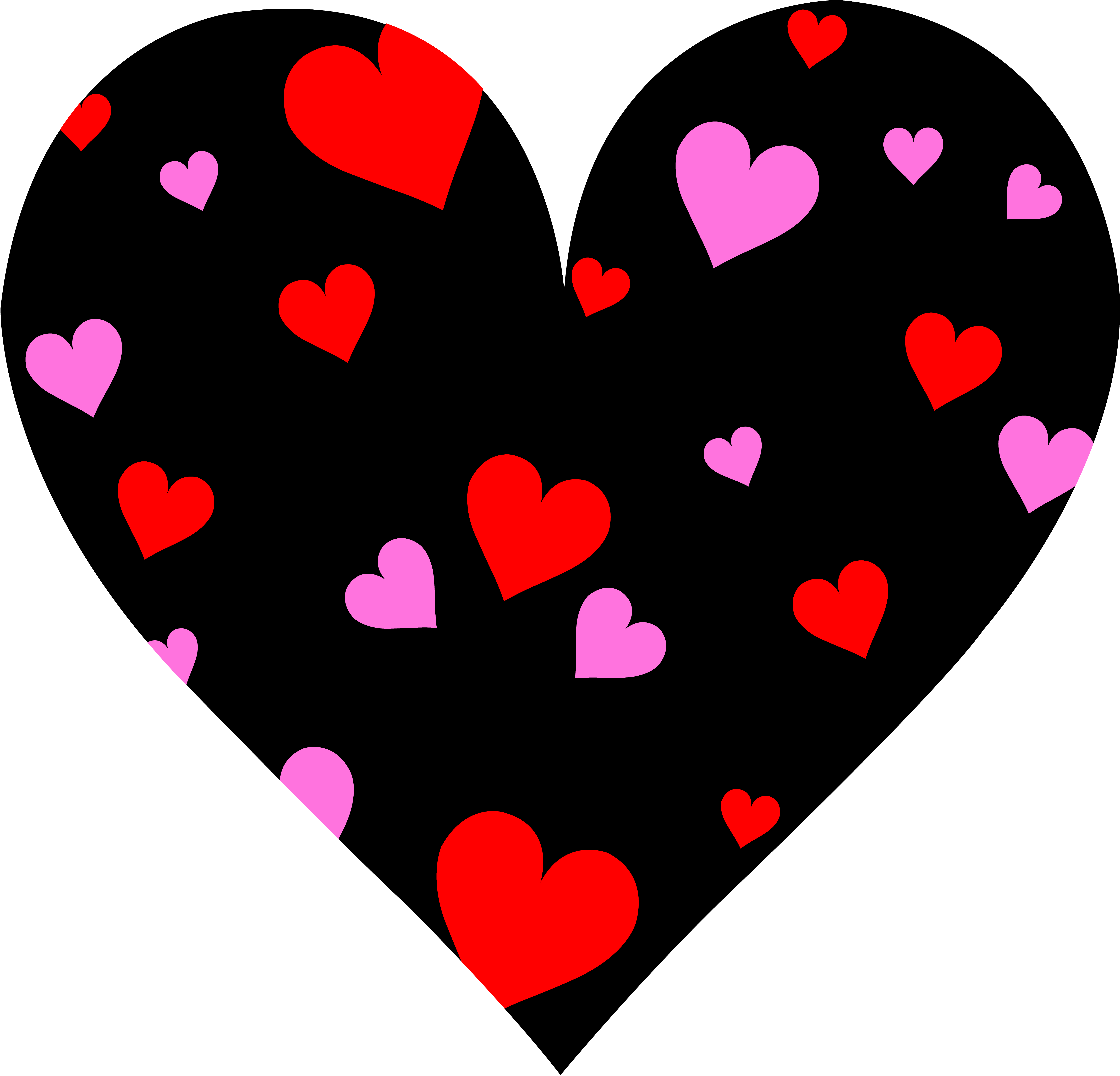 Cute valentine hearts clipart jpg black and white My Most Memorable Valentine's Day | My Life, Such As It is jpg black and white