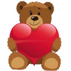 Cute valentine hearts clipart graphic freeuse library Cute Valentine Bear Clipart - Clipart Kid graphic freeuse library