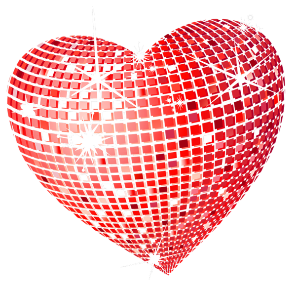 Heart bubbles clipart clip art black and white Red Disco Heart PNG Clipart Picture | Wallpapers and more ... clip art black and white