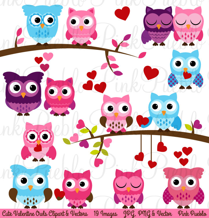 Cute valentine owl clipart clip library download Valentines day clipart owl - ClipartFest clip library download