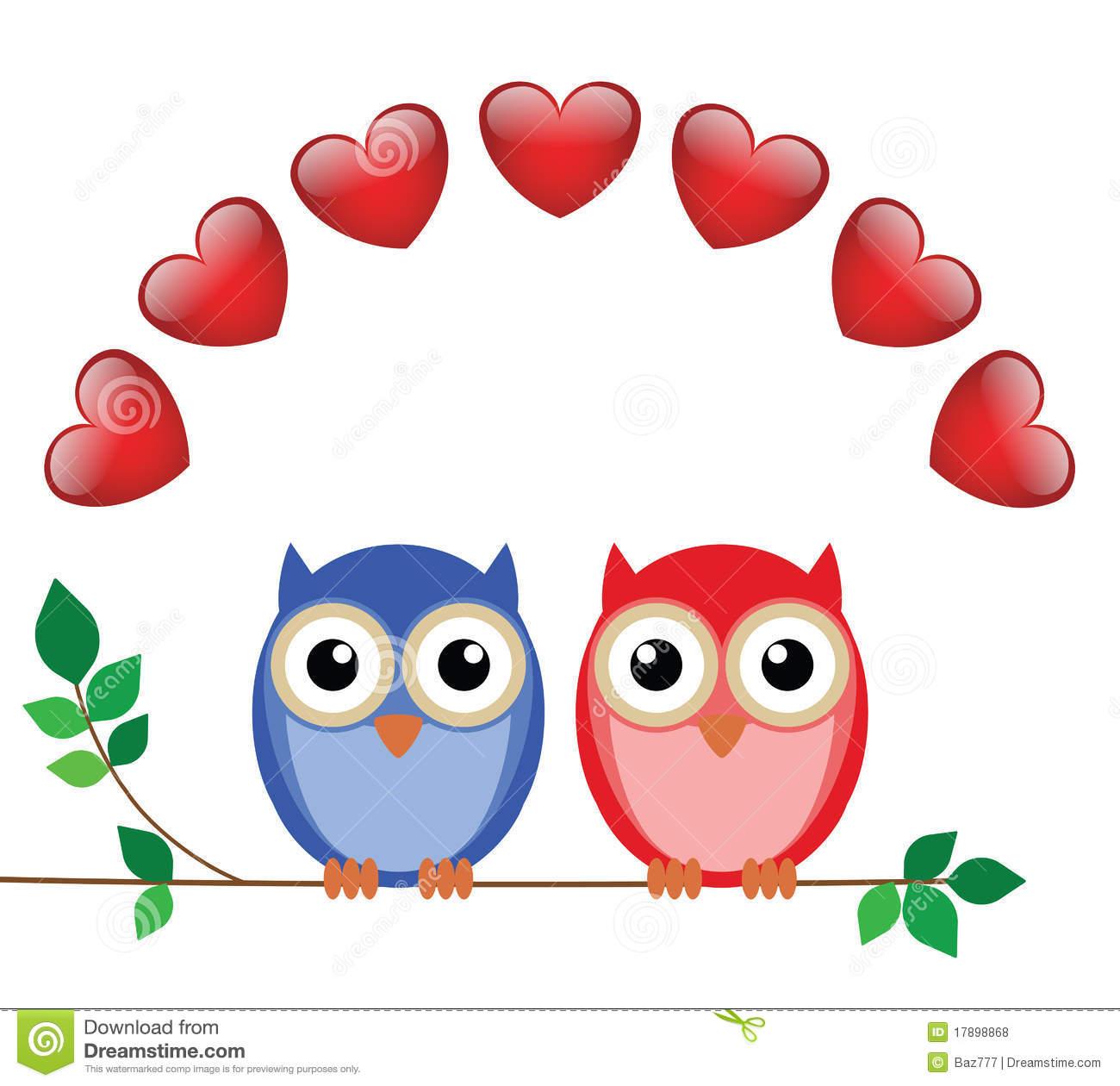 Kid. Cute valentine owl clipart